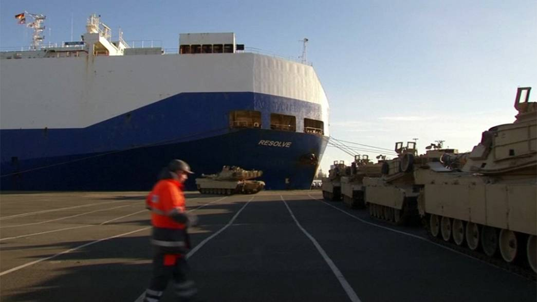 US military shipment arrives in Germany, ahead of NATO exercises