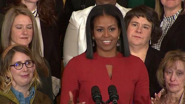 First Lady Michelle Obama veda konuşmasını yaptı