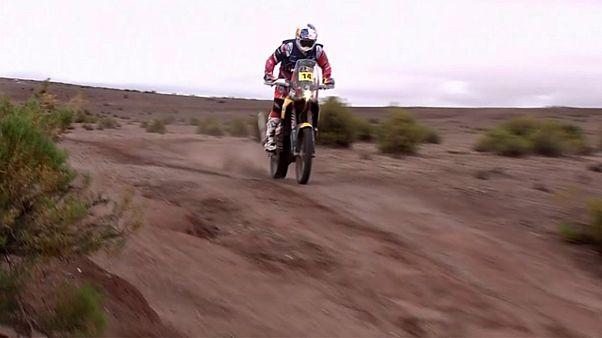 Britain's Sunderland wins stage five of Dakar Rally