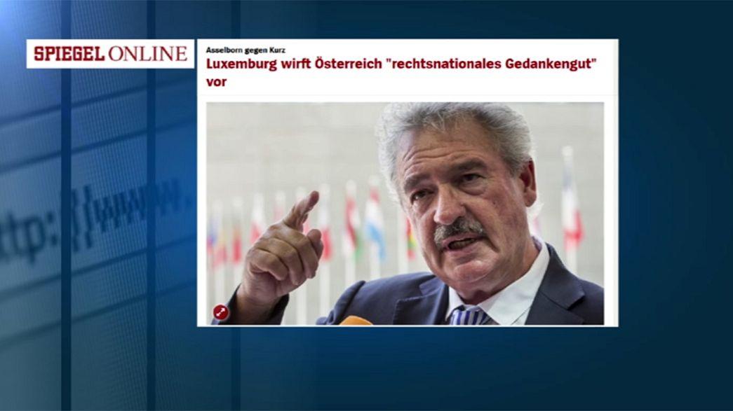 """Le Luxembourg taxe Vienne """"d'idéologie d'extrême-droite nationaliste"""""""