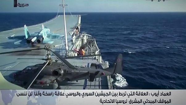 Russia annuncia ritiro della portaerei Kuznetsov dalle acque siriane, ma si continua a combattere