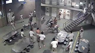 Watch: Prisoners 'stabbed' as violence erupts at US jail
