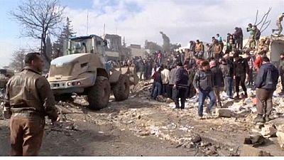 Fuel truck blast kills dozens in north Syrian border town
