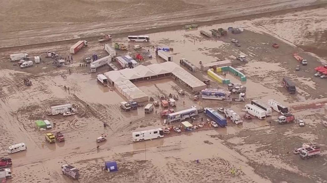 Anulada la sexta etapa del Dakar por lluvias torrenciales