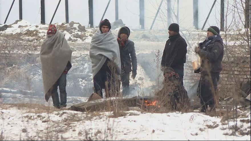 В Европе от морозов страдают мигранты