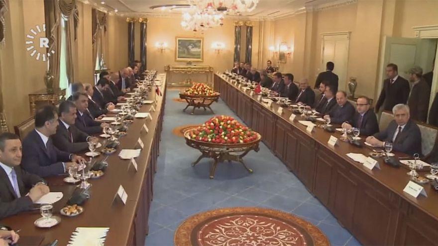 مكافحة الإرهاب أولوية في اجتماع يلدريم برئيس اقليم كردستان مسعود برزاني