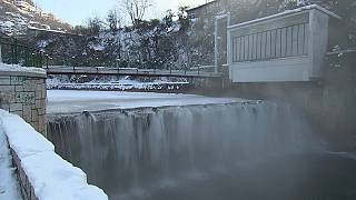 Frío extremo en Sarajevo