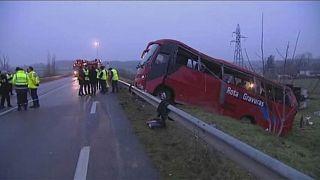 چهار پرتغالی تبار در فرانسه با خروج اتوبوس از جاده کشته شدند