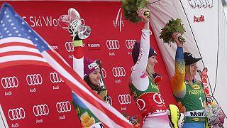 Микаэла Шиффрин выиграла пятый слалом в сезоне!