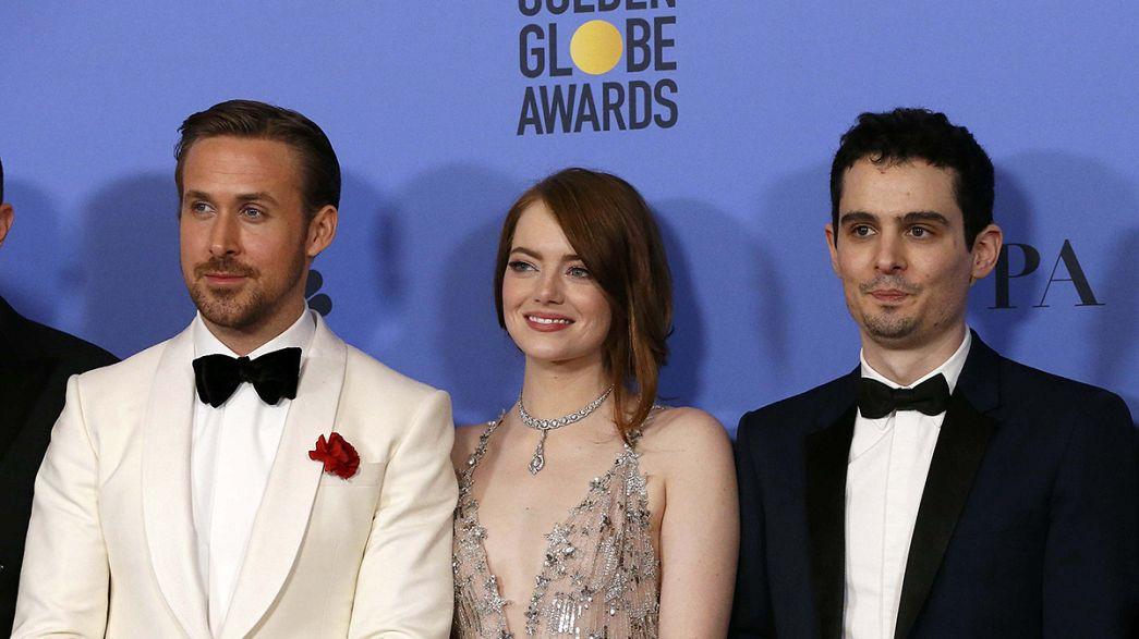 """""""La La Land"""" dances off with seven Golden Globes"""