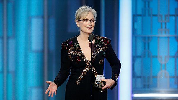 """Meryl Streep """"aponta baterias"""" a Trump nos Globos de Ouro"""