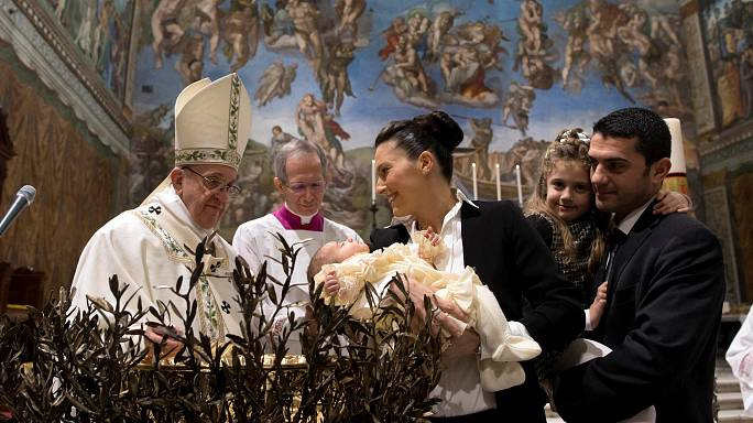 Bawling babies get breastfed in the Sistine Chapel