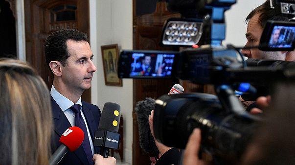 """Esad: """"Halep'in bombalanması meşruydu, her konuyu müzakere etmeye hazırım"""""""
