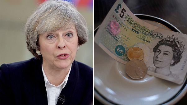 سقوط ارزش پوند پس از مصاحبه نخست وزیر بریتانیا با اسکای نیوز