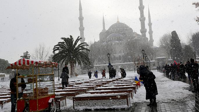Europe's cold snap delivers a mixture of chaos and fun