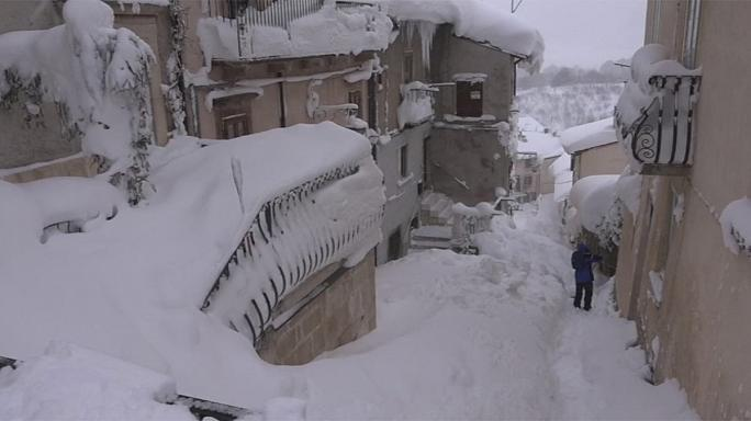 Severe snow storms wreak havoc across central Europe