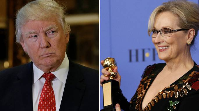 """ترامب يصف نجمة هوليوود """"ستريب"""" بالممثلة المبالغ في تقديرها"""