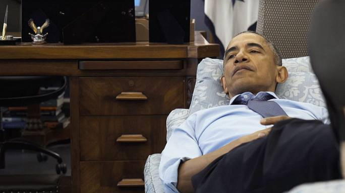 Obama elfoglalt nyugdíjasévei