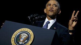 Les larmes d'Obama pour son dernier discours