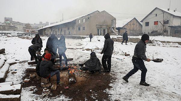 Сербия: мигранты замерзают
