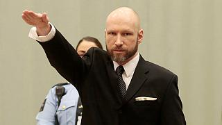 Breivik pulls Nazi salute in court