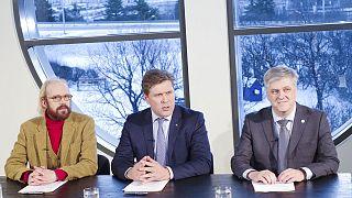 Neue Mitte-Rechts-Regierung in Island präsentiert