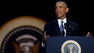 États Unis : les adieux de Barack Obama dans sa ville de Chicago