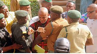 Pro-Biafran leader Nnamdi Kanu's secret trial begins in Nigeria