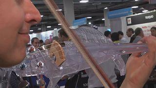 Un violon fabriqué avec une imprimante 3D