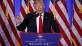 Trump meets press after secret dossier leak