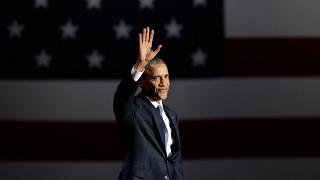 Barack Obama leaves the political stage as he entered it - with style