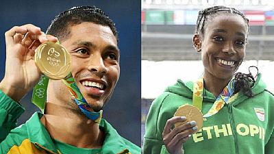 Ethiopia's Ayana and SA's Van Niekerk listed for top sports award