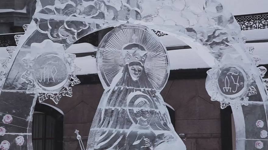 Russian Sculptures - Ice sculptures dazzle competition