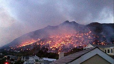 Afrique du Sud : de graves incendies consument des dizaines d'hectares de végétation