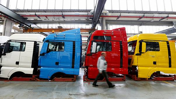 La producción industrial en la eurozona volvió a repuntar a finales de año