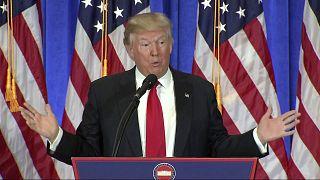 Beschimpfungen im Trump-Tower: Neuer Präsident betreibt Medienschelte