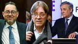 Tajani, Pitella e Verhofstadt lutam pela liderança do Parlamento Europeu