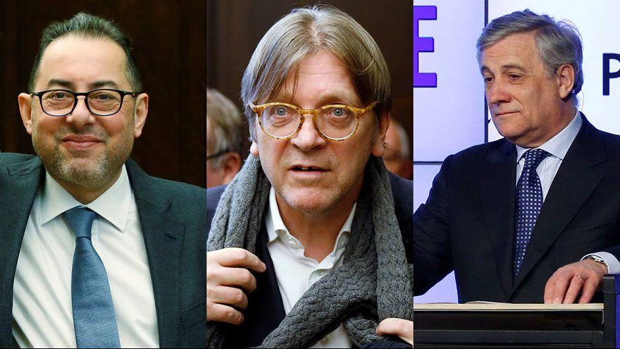 Tajani, Pitella und Verhofstadt: Chancenreich für das Amt des EU-Parlamentspräsidenten