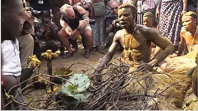 Les descendants d'esclaves en pèlerinage vaudou au Bénin