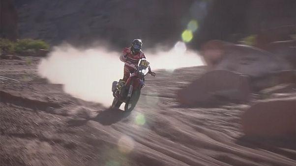 Dakar rallisinde heyecan sürüyor