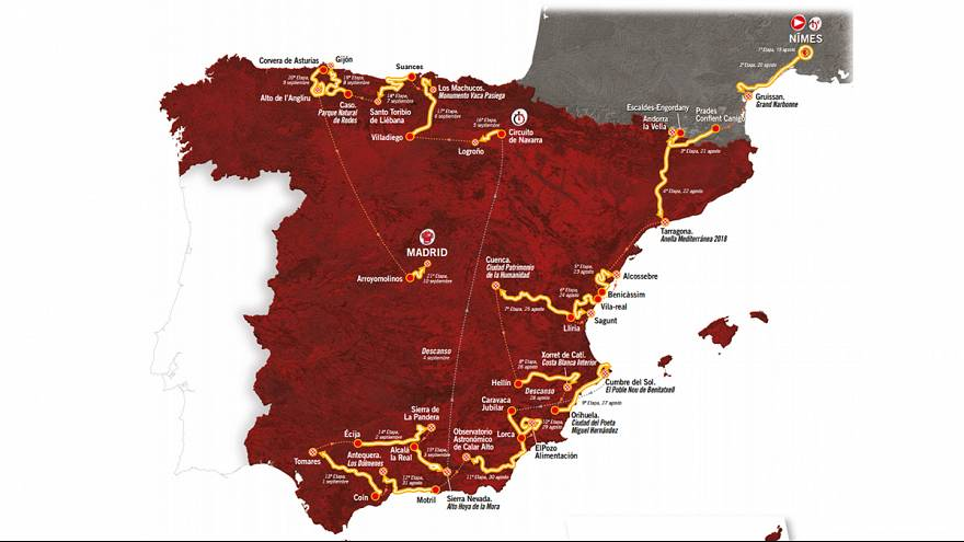 Cycling: 2017 Vuelta route unveiled