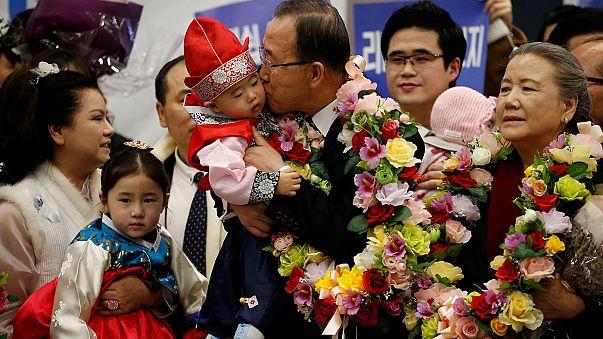 Ban insinúa su deseo de presentarse a las presidenciales en su retorno a Corea del Sur
