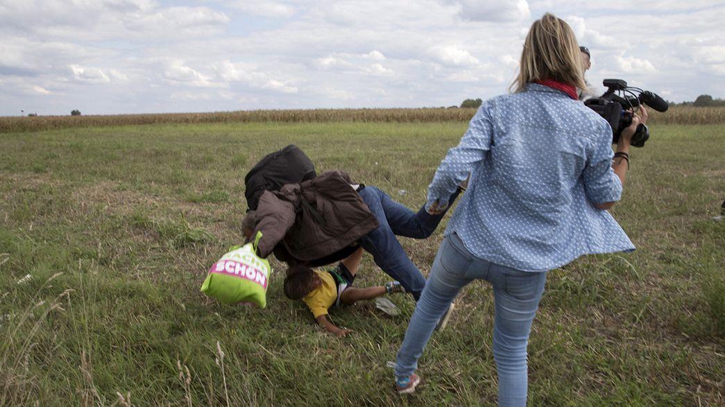 Hongrie : la journaliste qui avait frappé des migrants condamnée
