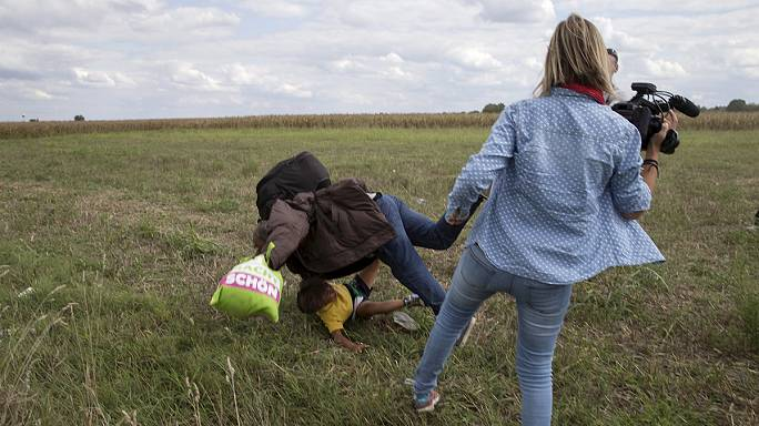 Three years probation for Hungarian reporter who tripped migrants