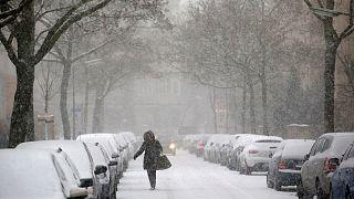 Europa, asediada por la lluvia, el frío y la nieve