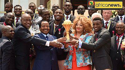 """CAN 2017 : Paul Biya honore les Lions qui ont mis leurs adversaires """"dans la sauce"""""""