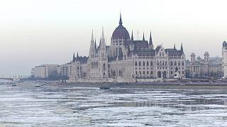 An icy Danube