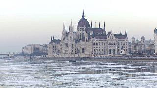 Лёд на Дунае