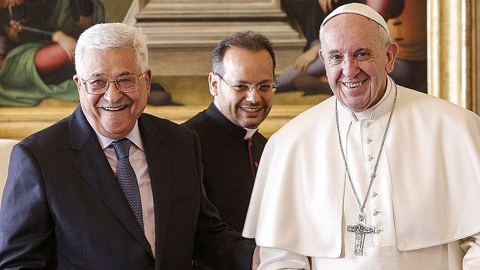 Mahmud Abás inaugura la embajada palestina en el Vaticano