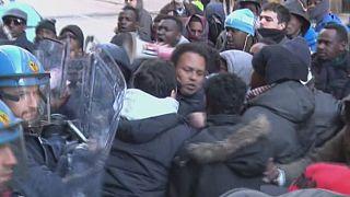 احتجاجات مهاجرين صوماليين في إيطاليا